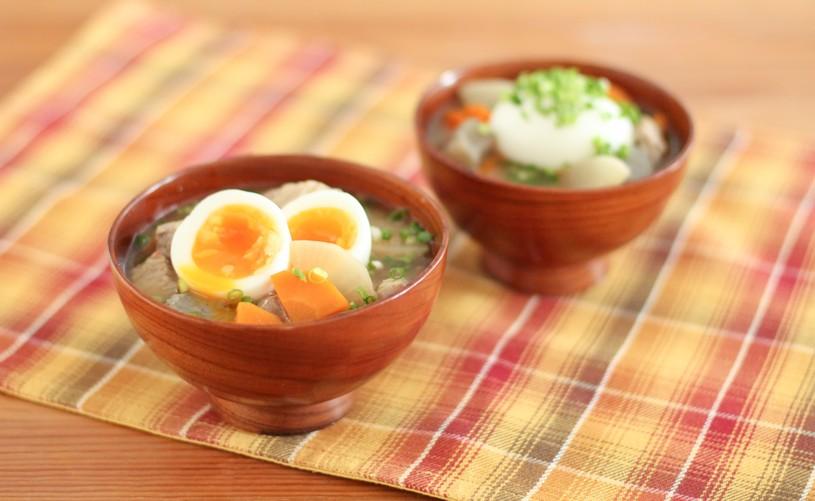冬の豚汁は、根菜(大根、牛蒡、里芋など)を下ゆでしないのが美味しいんですよ。