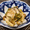 ちょっとしたおつまみに。牡蠣の辛子明太子和えの作り方、レシピ。